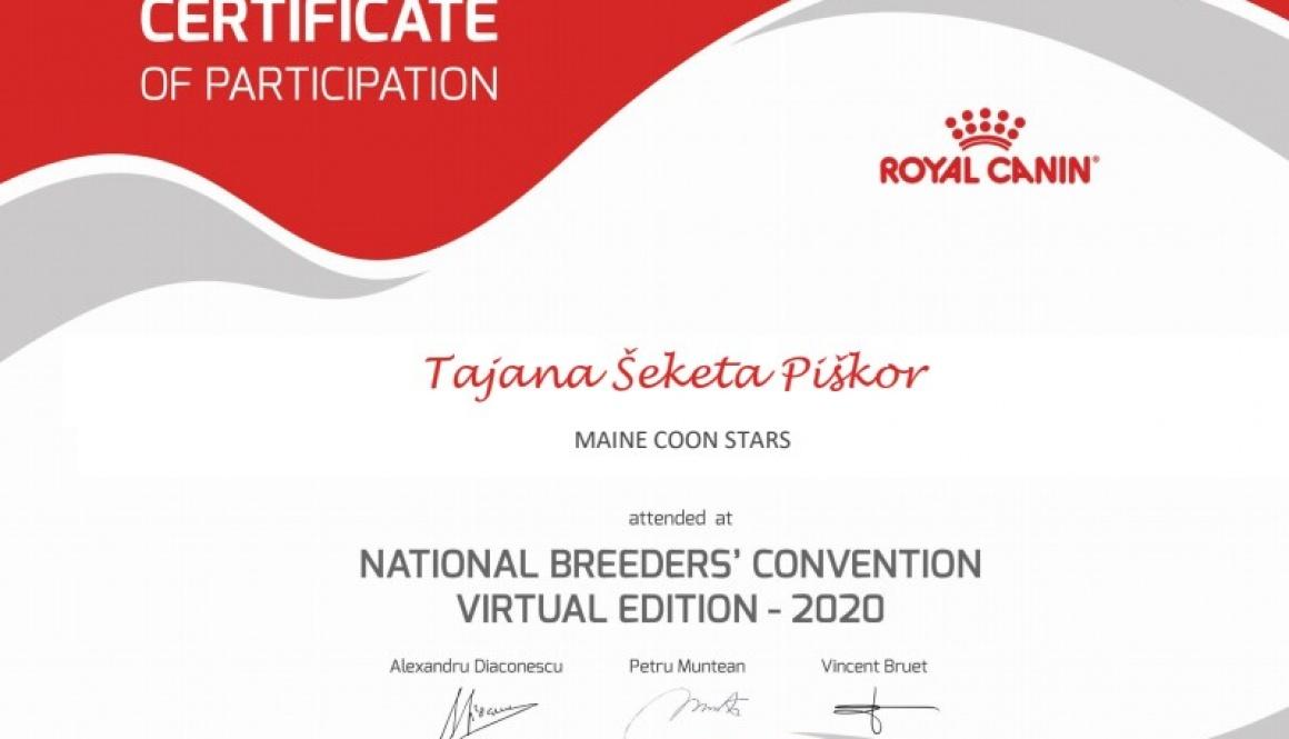 ROYAL CANIN – Nacionalna konvencija uzgajivača 5.9/12.09.2020.